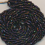 Cut-Perlen aubergine metallic rainbow, Inhalt 10,5 g,...